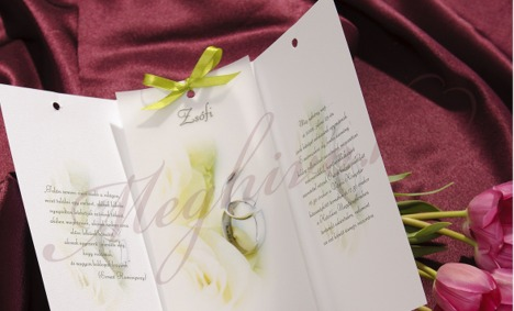 Esküvői meghívó pausz papírral