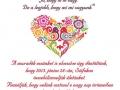 szerelmes madárkás esküvői meghívó